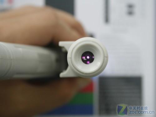 使用100倍光学显微镜观察样张