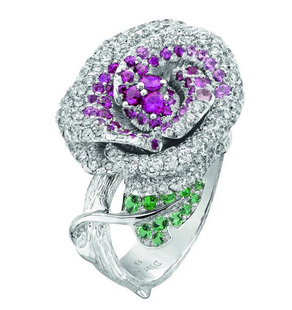 迪奥高级珠宝Bois de Rose系列 怒放中的钻石玫瑰