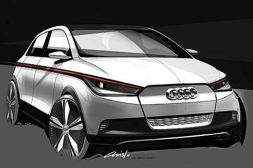 奥迪A2概念车设计草图
