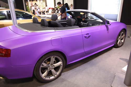 紫色奥迪亚光a5丰田86抖图片