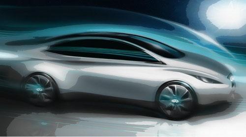预计2014年发售 曝光英菲尼迪新款EV草图