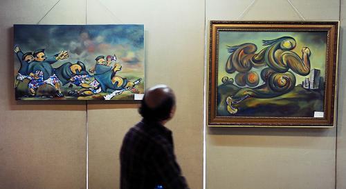 纪念辛亥革命民间油画作品长沙展出