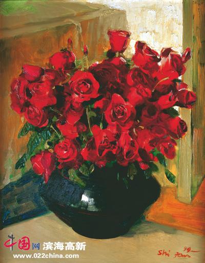 油画玫瑰花画法步骤图