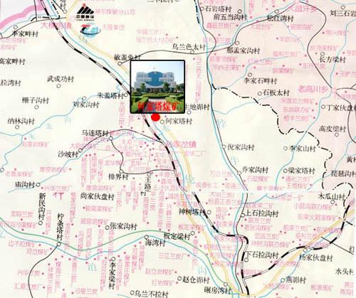 陕西省铁路地图