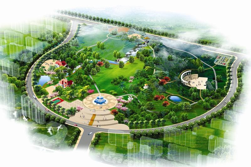 位于张村镇的一品南山公园鸟瞰图.(资料片)