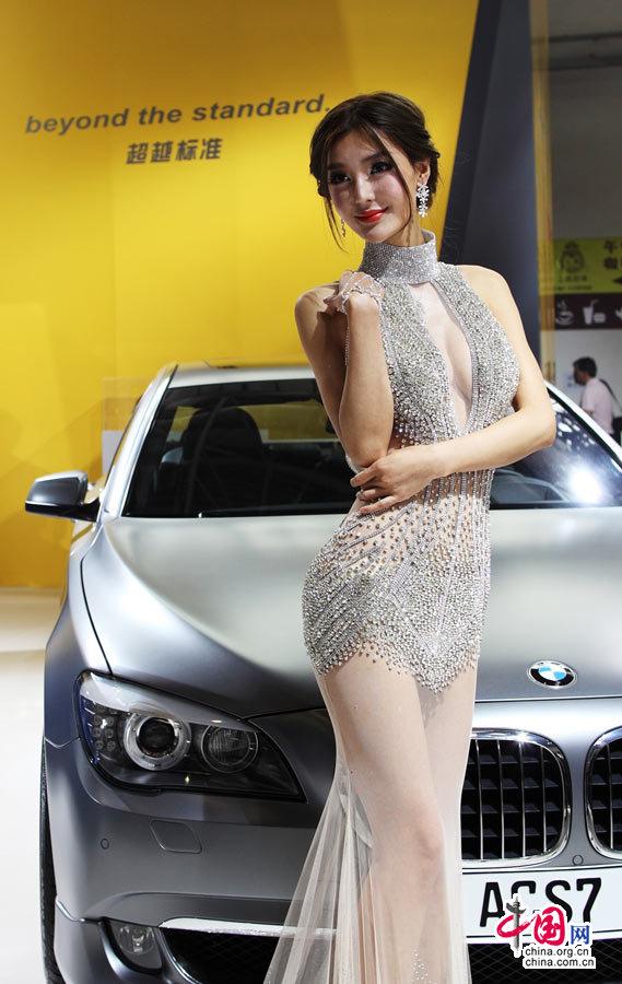 高清:2012北京国际车展车模争艳