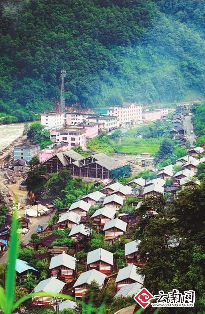 独龙江畔的独龙族新村