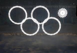 索契冬奥会开幕式:奥运五环变四环 网友集体吐槽