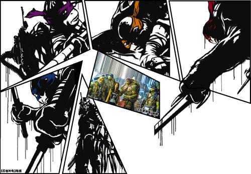 抽出了双刀……四只乌龟在原版动画片中的呆萌感瞬间