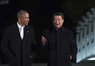 组图:习近平与奥巴马在中南海会晤