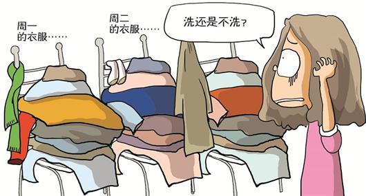 @CHARM魅426:冬天是一个放衣服好尴尬的季节!但愿我不是一个人   记者追访:冬天的衣服就是让人尴尬。第二天想换一身,可前一天穿过的并不脏,不能洗,也不能当成干净衣服收进衣柜,只能放任在外堆成一座座此起彼伏的小山昨天,微博上热传的这段话,让很多网友感同身受,千余人不约而同地转发,我就是这样的!那么问题来了,冬天的衣服,如果不想洗又不想堆成山,怎样放才好呢?   衣服堆成小山   占领飘窗和椅子   网友张女士家住汉口青年路,从事管理工作,比较注重仪表。虽说是冬天,但她每天衣服都不重