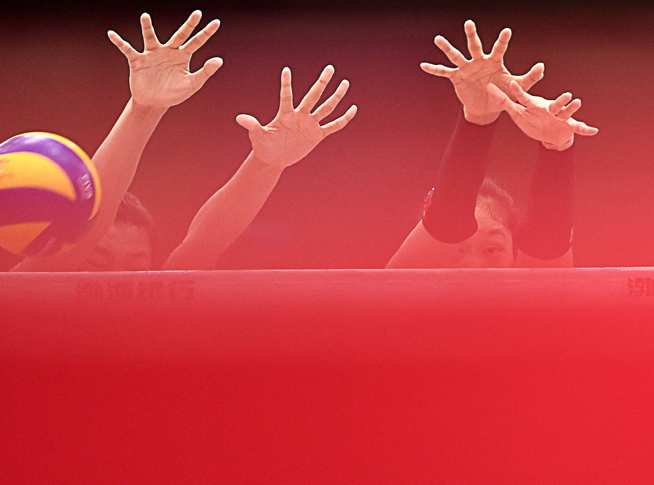 排球——女排亚锦赛:中国胜伊朗   5月22日,中国队球员杨珺菁高清图片