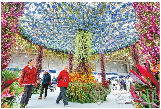 图为斗南分会场的浪漫花屋。