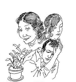 三个闺蜜简笔手绘图片