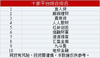 十家平台综合排名