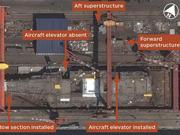 卫星照显示中国首艘国产航母即将竣工